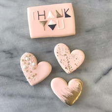 Some little hearts and a matching thank