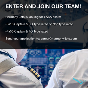 Harmony Jets is looking for new pilots!