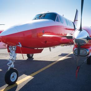 New aircraft in the fleet: Beech C90A
