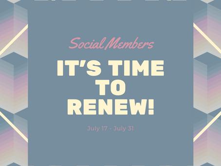 Social Membership Renewals