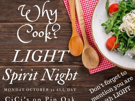 LIGHT Spirit Night (and Day!!)