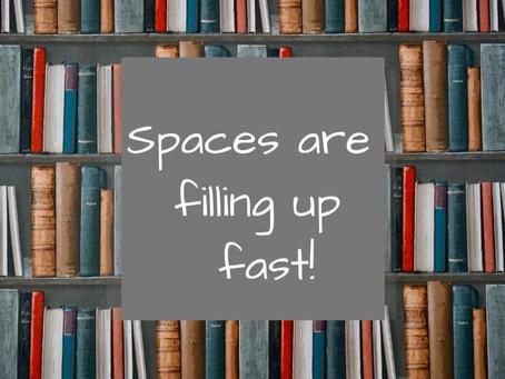 A few spots left for Fall 2019 Enrichment classes