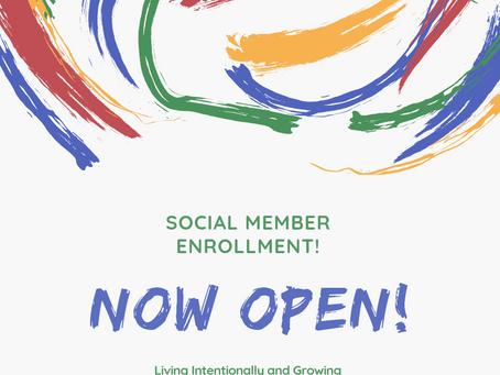 Social Membership - Enrollment is open!!!