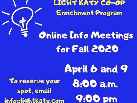 Info Sessions - Online