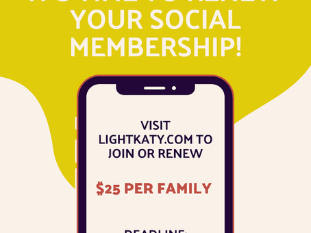 Social Members - It's Time to Renew!!!