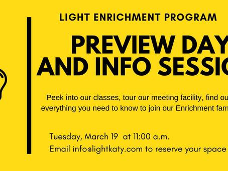 Preview the Enrichment Program!