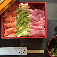 106. Tuna/Salmon/Avocado Chirashi