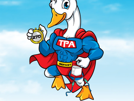 What is Super Goose holding ?