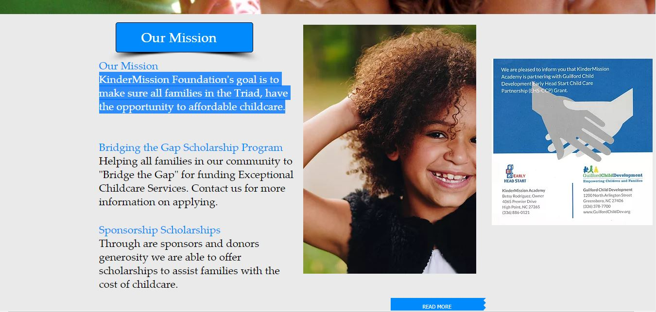 KinderMission Foundation Website
