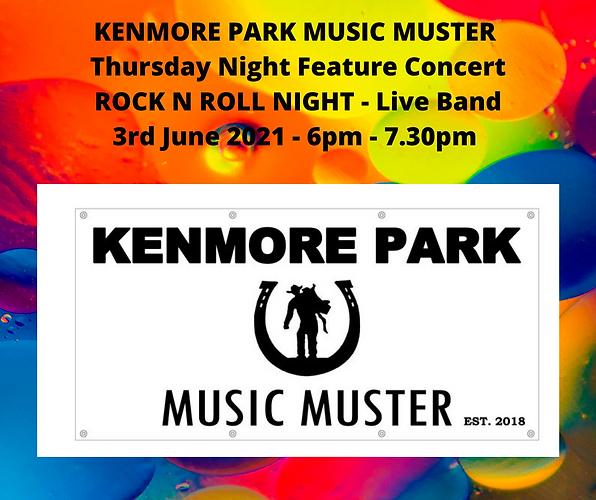 KENMORE PARK MUSIC MUSTER Thursday Night