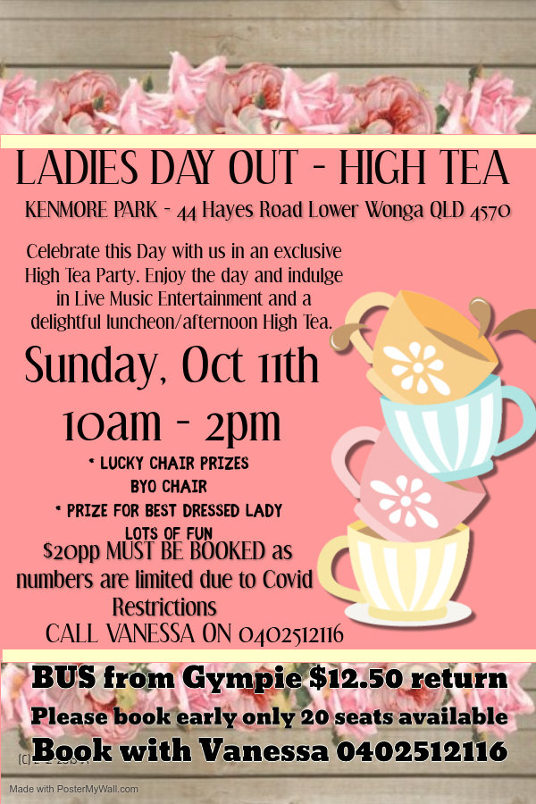 Ladies Day Out - High Tea 11th October.j
