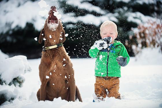 Big Sky Photographer - kid in snow