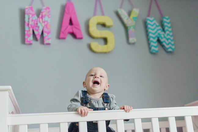 Bozeman Baby Photographer - baby bed
