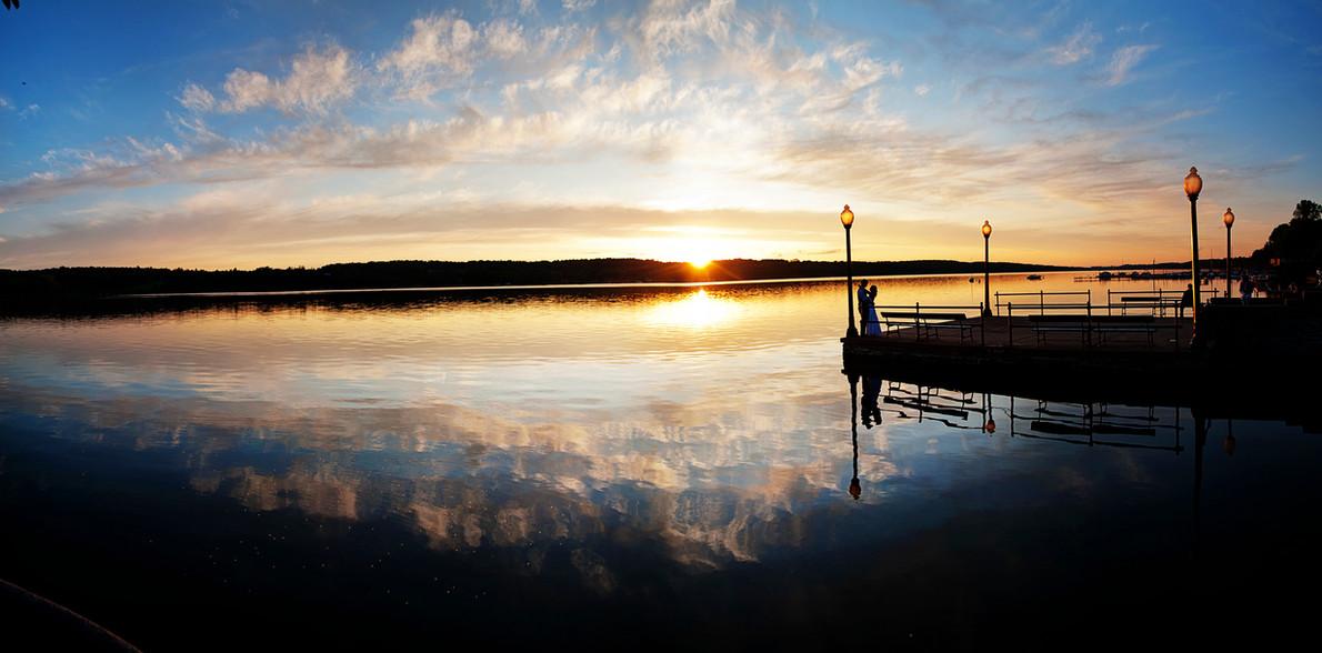 Big Sky Photographer - Sunset Wedding Kiss