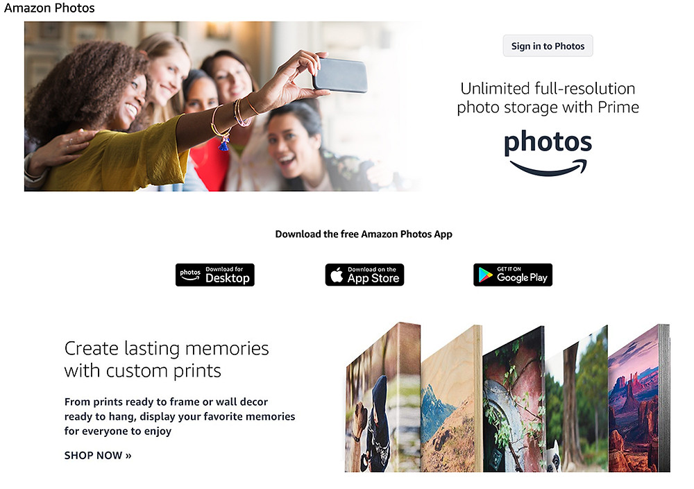 Amazon Photos is a quick way to access photos from your loneman photography big sky and bozeman photography sessions