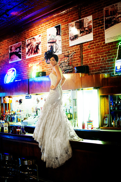 Big Sky Photographer - Tavern Bride in Butte