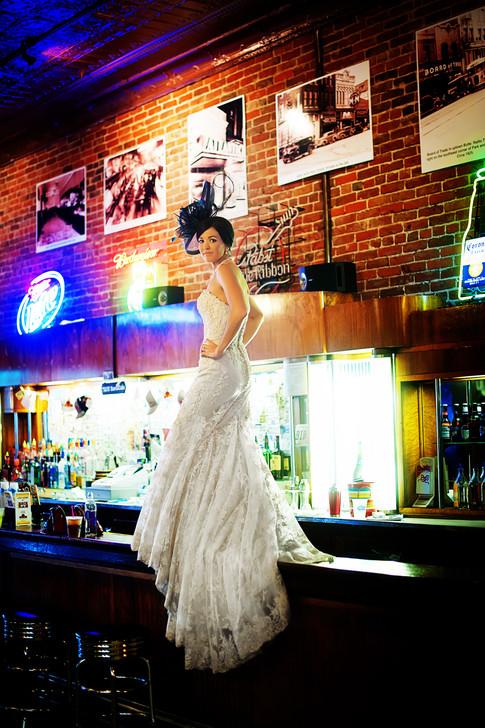 Big Sky Photographer - Tavern Bride in Butte
