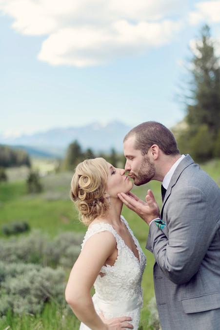 Big Sky Photographer - Tender Wedding Moment