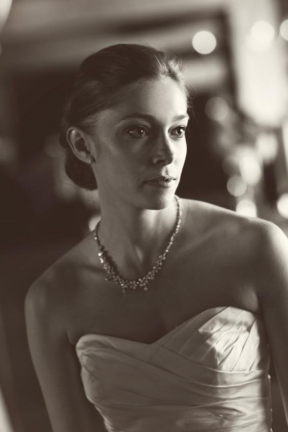Big Sky Photographer - Bride black/white Portrait