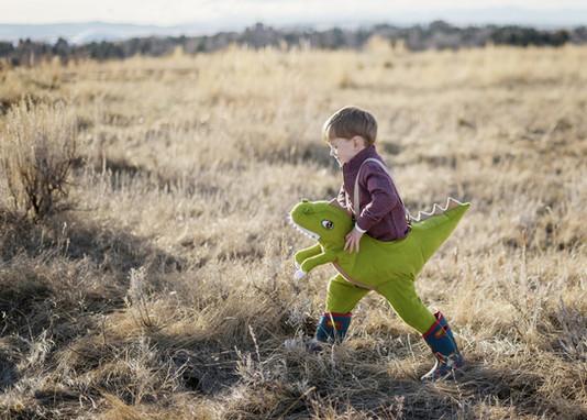 Bozeman Photographer - Dinosaur Boy