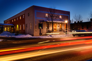 Bozeman Photographer - Nash Building at Night
