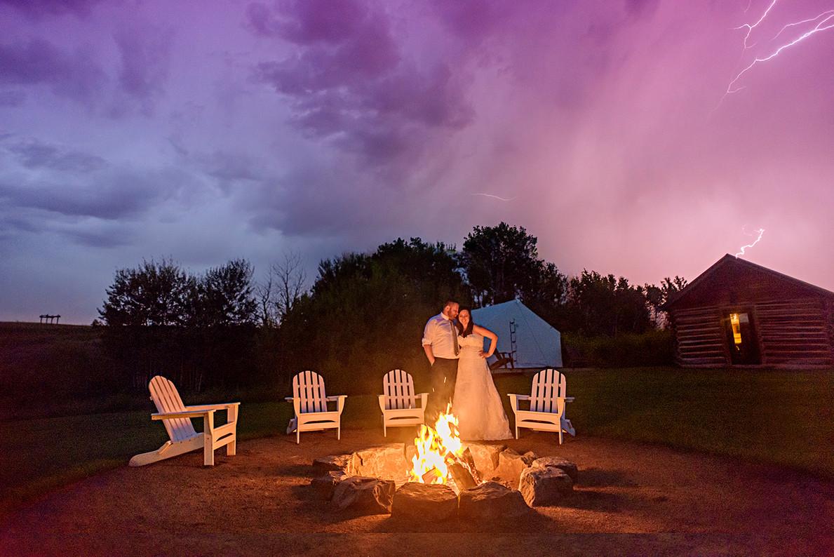 Big Sky Photographer - Wedding under a Storm