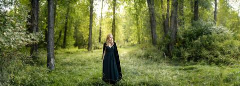 Bozeman Senior Photographer - senior in the woods