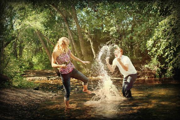 Bozeman Photographer - Water heart