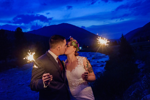 Big Sky Photographer - Sparkler Wedding