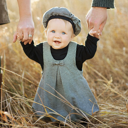 Bozeman Baby Photographer - baby in field