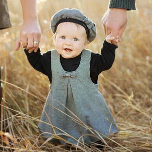 Bozeman Baby Photographer - baby in field