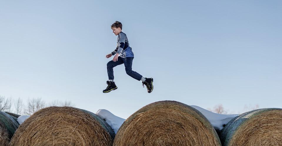 Bozeman Photographer - Leaping boy