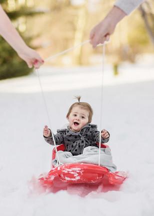 Bozeman Baby Photographer - winter baby
