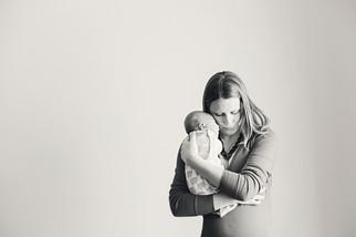 Bozeman Baby Photographer - black and white