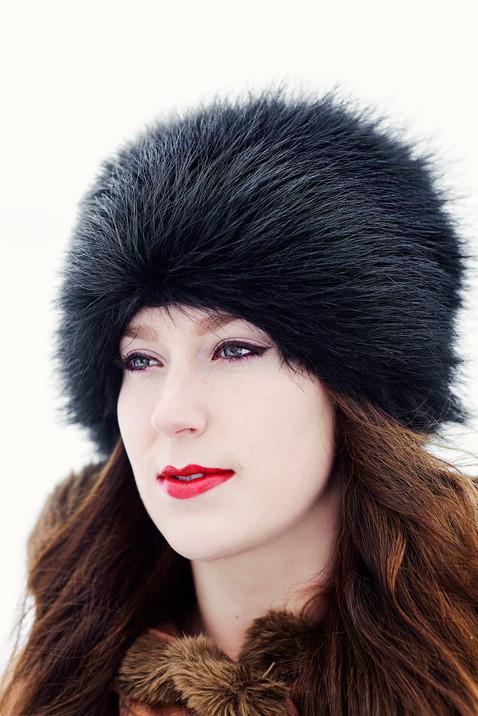 Bozeman Senior Photographer - senior in winter