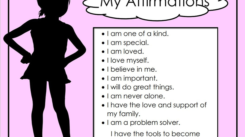 Affirmations (girl) Chart