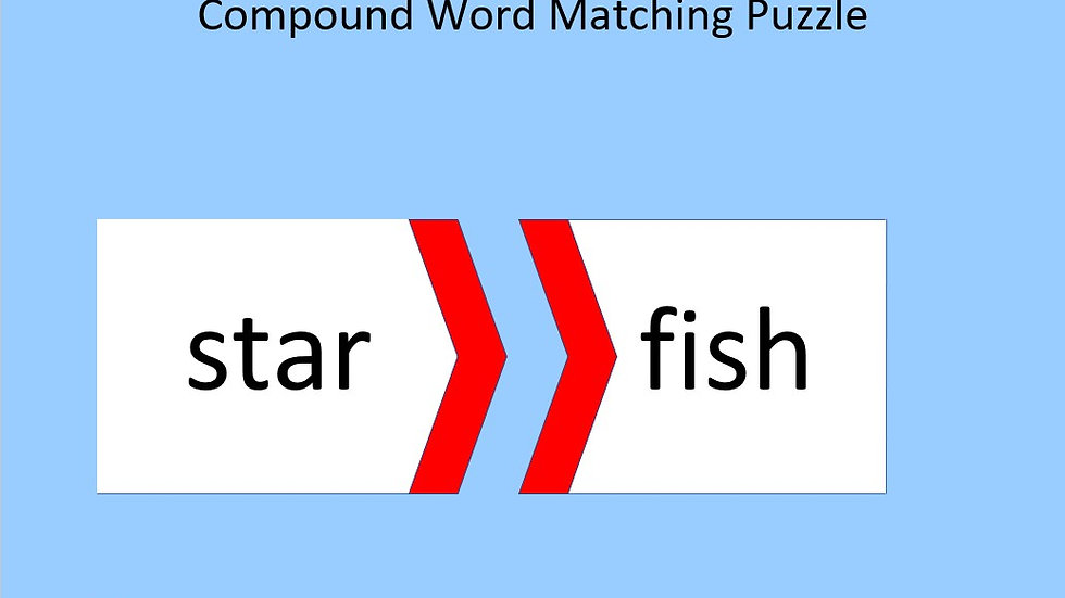 Compound Words Matching Puzzle