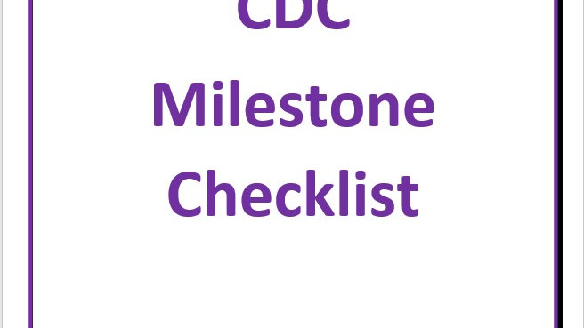 Developmental Milestones (CDC)