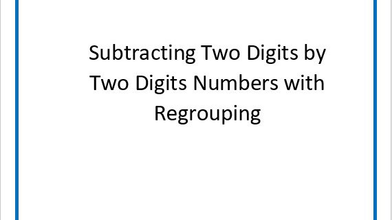 Subtracting Two Digits by Two Digits With Regrouping