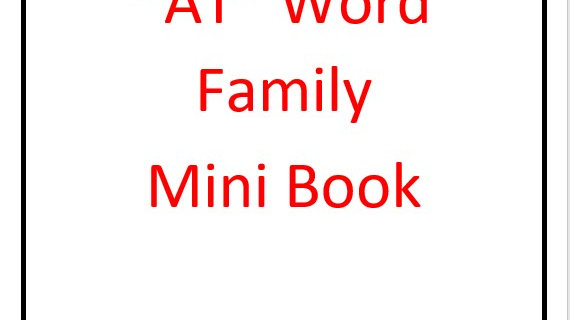 """At"" Word Family Mini Book"