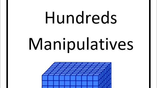 Hundred Manipulatives Cut Outs