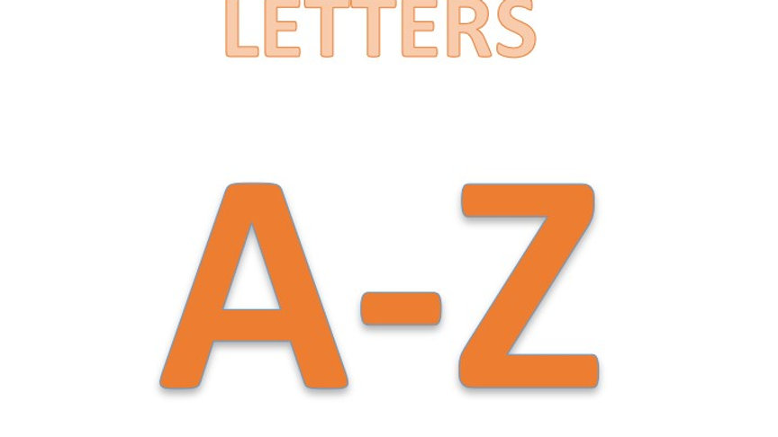 Letter A-Z Coloring Page