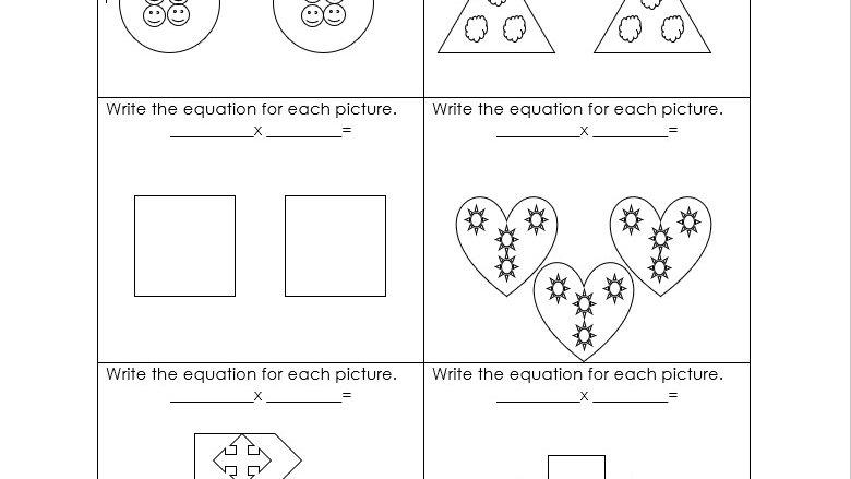 Multiplying Using Groups Worksheet 1