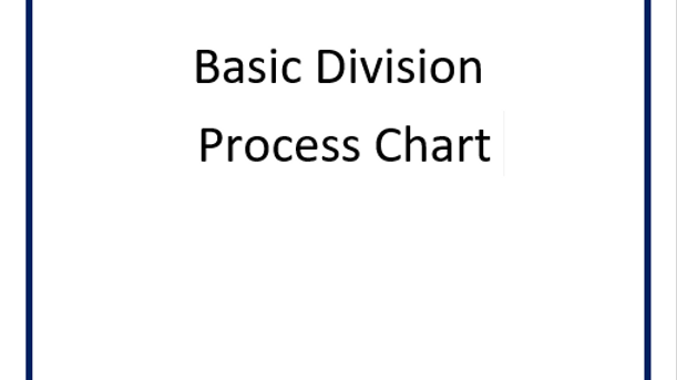 Division (Basic) Process Chart