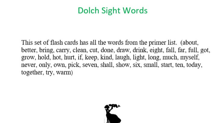 Third Grade Dolch Sight Word Flashcards