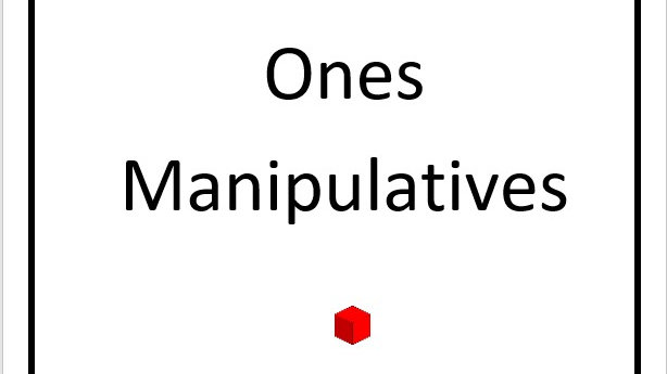 Ones Manipulatives Cut Outs