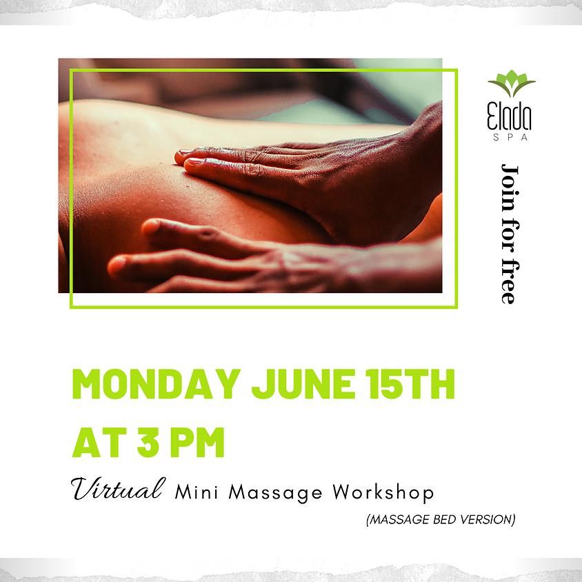 Virtual Mini Massage Workshop (massage bed version)