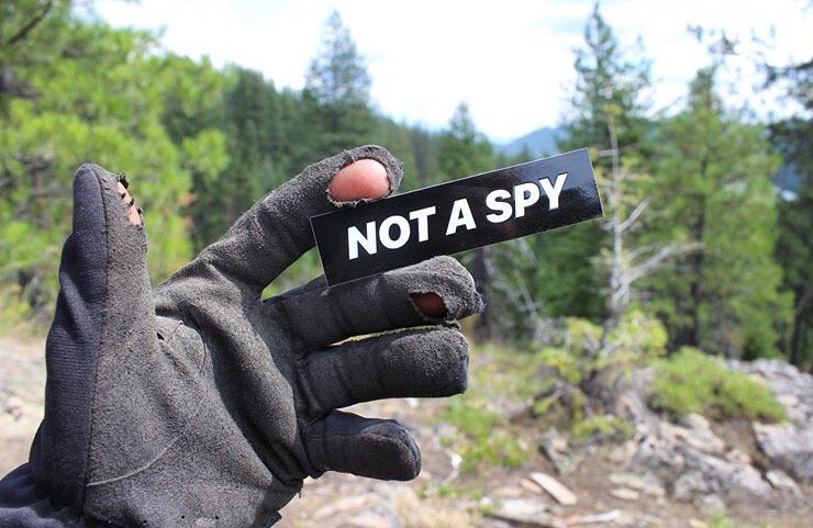 Original 'NOT A SPY' Sticker