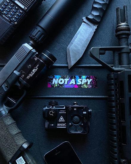 Splatter NOT A SPY Sticker