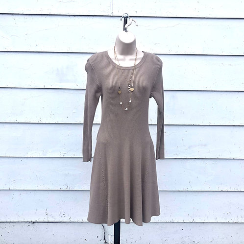 Taupe Ribbed Sweater Dress